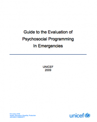 ResourceSS_UNICEF Guide psychosocial eval